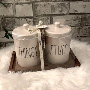 Rae Dunn THINKINGS STUFF bathroom Set